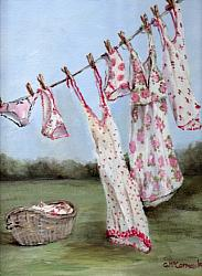 Washing Day -  Available as Prints and Gift Cards