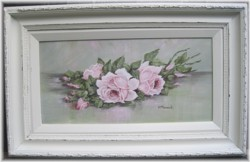 Original Painting - Pink Resting Roses - Postage is included Australia wide