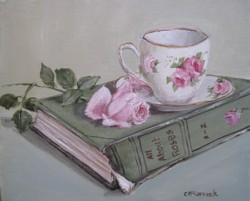 Original Painting on Canvas - The Book of Roses - Postage is included Australia Wide