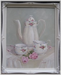 Original Painting - China Coffee Set - FREE Postage Australia Wide