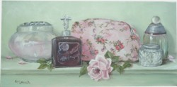 Original Painting on Canvas - Beautiful Bathroom Shelf - Postage is included Australia Wide