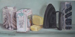 Original Painting on Canvas - Vintage Laundry Shelf - Postage is included Australia Wide