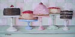 Original Painting on Canvas - Assortment of Cakes - Postage is included Australia Wide