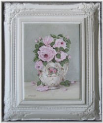 Original Painting - Larger size - Sweet Pink Roses in a Jug - Postage is included Australia wide