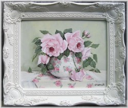 Original Painting - Roses & Chintz - FREE POSTAGE AUSTRALIA WIDE