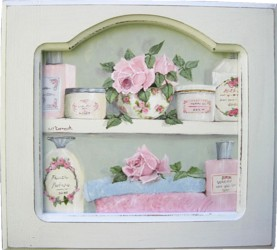 Original Painting - Pretty Bathroom Cupboard - FREE POSTAGE Australia wide